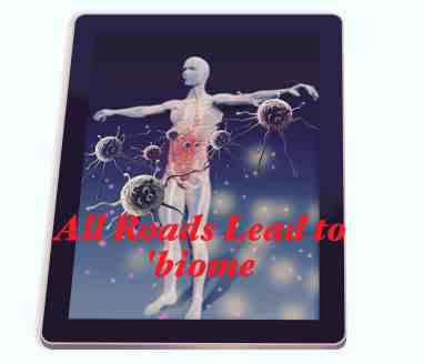 Protected individual repelling bacteria and viruses show on tablet made in 3d software isolated on white