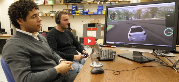 Video Racing Game Interface for Blind Players [video]