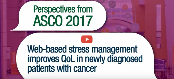 Cancer Patients Benefit from Online Stress Management  [video]