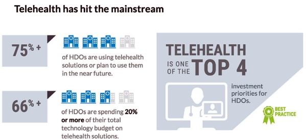 75% of Healthcare Delivery Organizations Investing in Telehealth