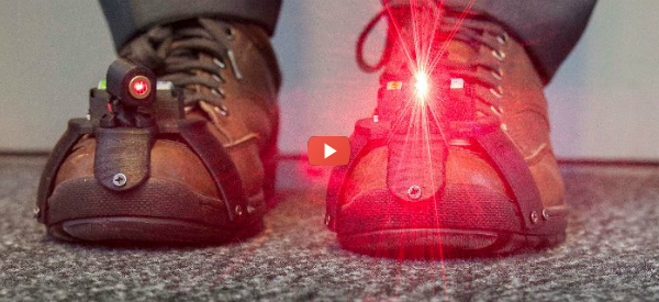 Laser Shoe Help with Parkinson's Gait-Freeze [video]