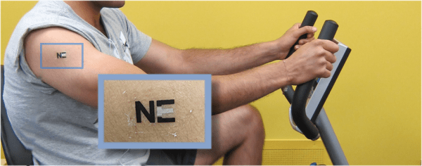 Printed Battery Powered by Sweat