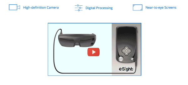 eSight Eyewear Making Daily Life Easier by Improving Vision [video]