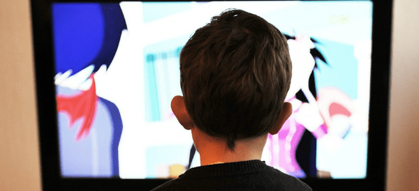 Child watching television 600x274