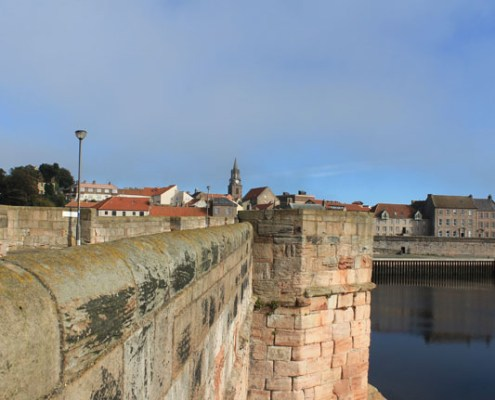Views across Berwick bridge