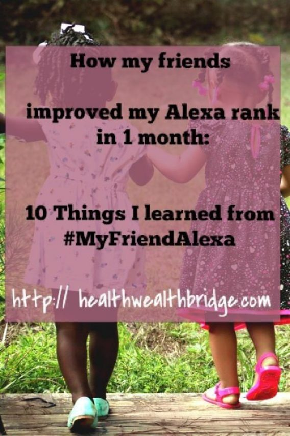 How my friends improved my Alexa rank in 1 month:10 Things I learned from #MyFriendAlexa
