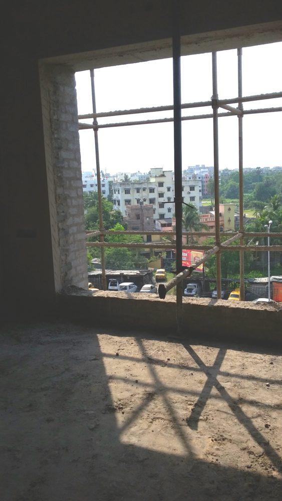The master bedroom windows