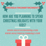 How do you spend Christmas with your children :MondayMommyMoments
