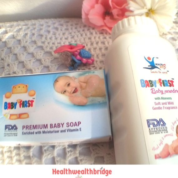 BABY FIRST baby soap and powder