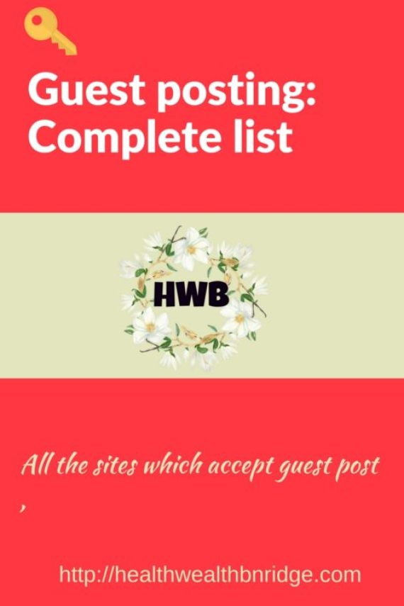 Guest posting -Complete list