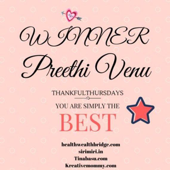 Winner for love week on #tHANKFULThursdauys 16