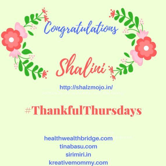 Congratulations Shalini