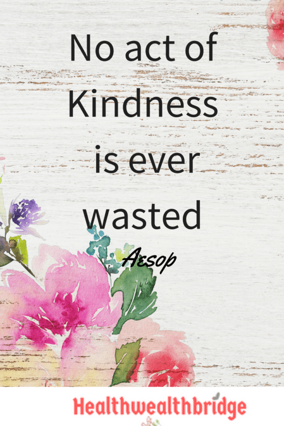 Random acts of kindness:Are they useful?