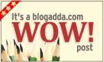 I won the wow badge by Blogadda