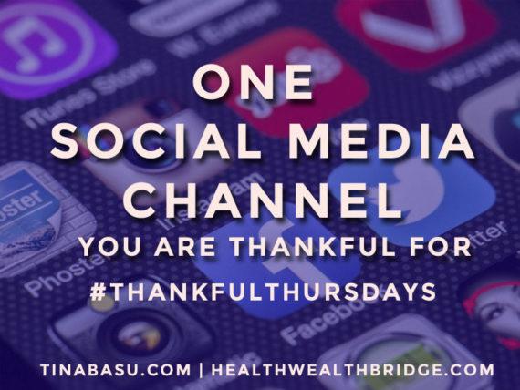 #ThankfulThursday prompt :Thankful for Social media