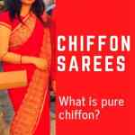 Chiffon saree online :All you need to know