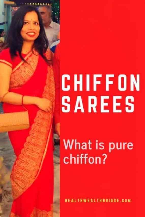 Chiffon sarees:How to buy a pure chiffon saree