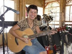 Tata with guitar