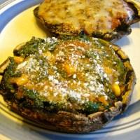 Baked and Stuffed Portobello Mushrooms (2 Ways)