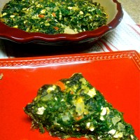 No-Crust Feta, Spinach, and Mushroom Pie