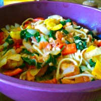 Spicy Shrimp and Bell Pepper Pasta