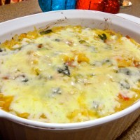 Ham and White Bean Spaghetti Squash Casserole