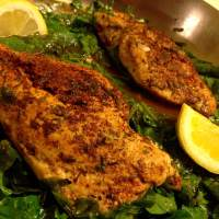 Paprika and Thyme Chicken and Spinach in Lemon Sauce (Paleo)