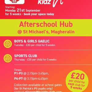 Healthy Kidz Afterschools at St Michael's, Magheralin