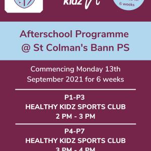 Healthy Kidz Afterschools at St Colman's Bann PS