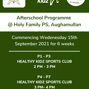 Healthy Kidz Afterschools at Holy Family PS, Aughamullan
