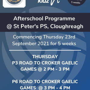 Healthy Kidz Afterschools at St Peter's PS, Cloughreagh