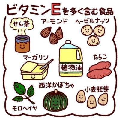 ビタミンEの効果とは?多く含まれる食材について