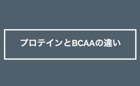 プロテイン BCAA 違い