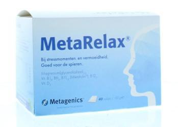 Magnesium metarelax magnesiumglycerofosfaat 40 zakjes
