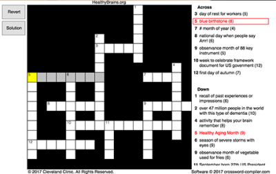 Remember September Crossword