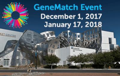 Evento GeneMatch – 1 de diciembre y 17 de emero