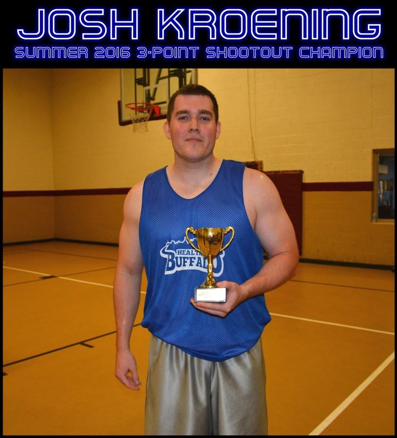 Josh Kroening 3 Point Shootout Champ