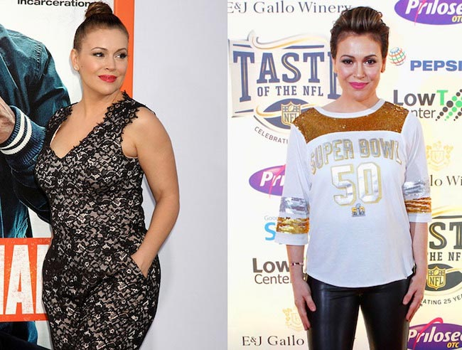 Alyssa Milano before and after