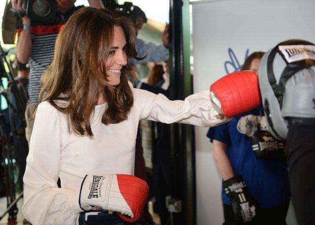 Kate Middleton doing boxing