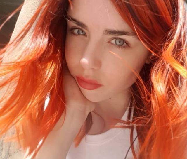 Danielle Sharp In An Auburn Haired Selfie In May