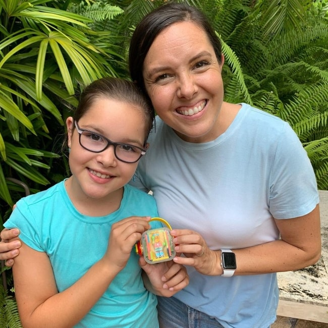 Elise Johnston as seen in a picture that was taken in May 2021, with her mother Kendra