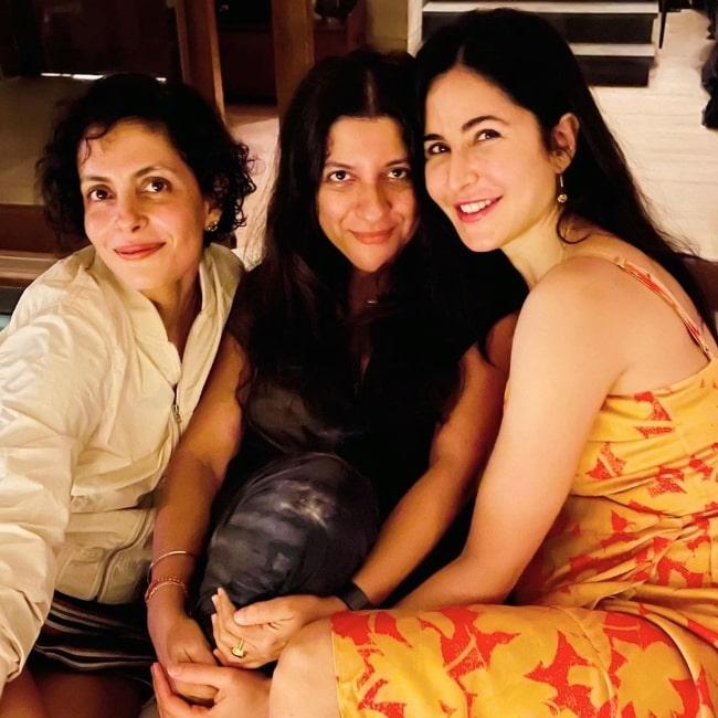 From Left to Right - Nitya Mehra, Zoya Akhtar, and Katrina Kaif in July 2021