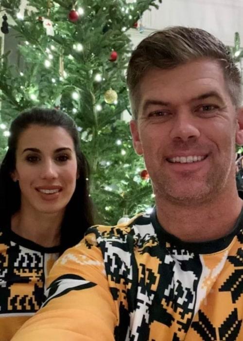 Mason Crosby and Molly Ackerman, as seen in December 2020