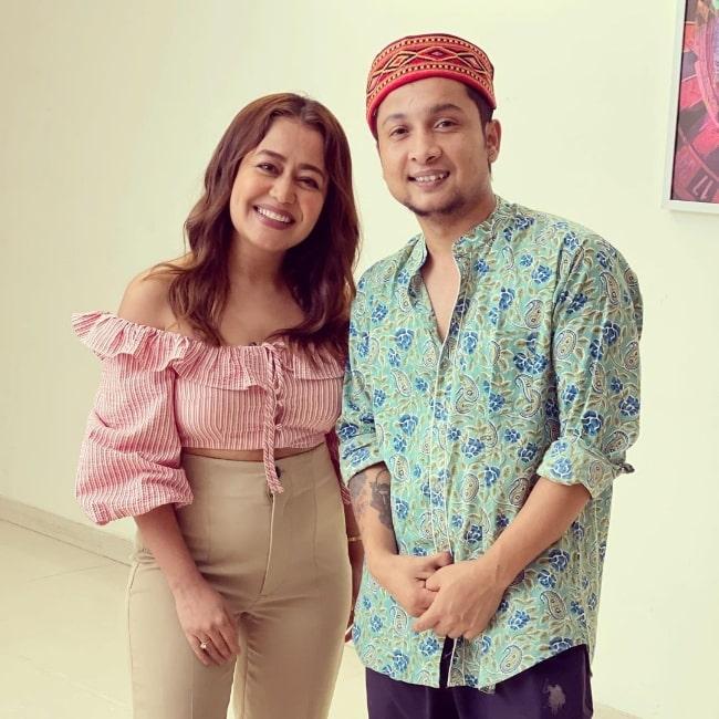 Pawandeep Rajan and Neha Kakkar as seen in an Instagram post in April 2021