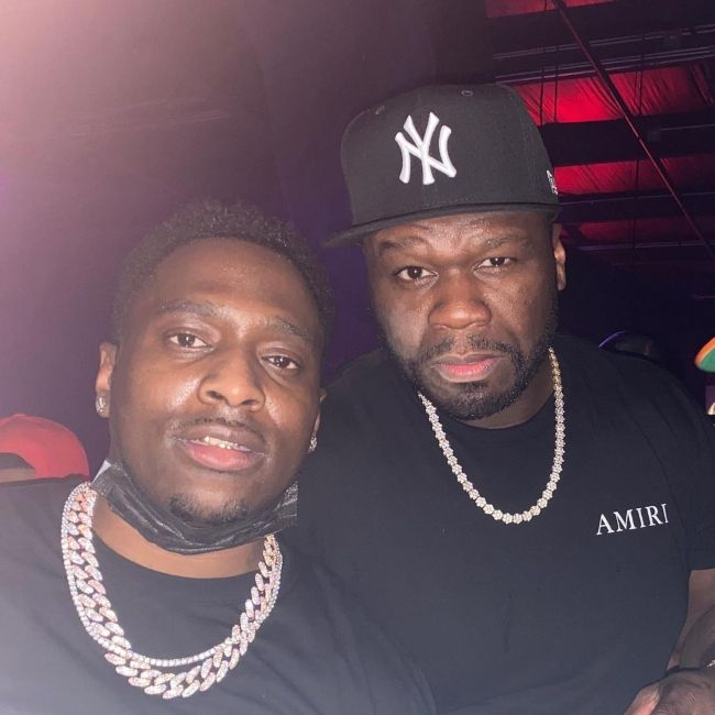 Turk as seen with rapper 50 Cent in September 2021