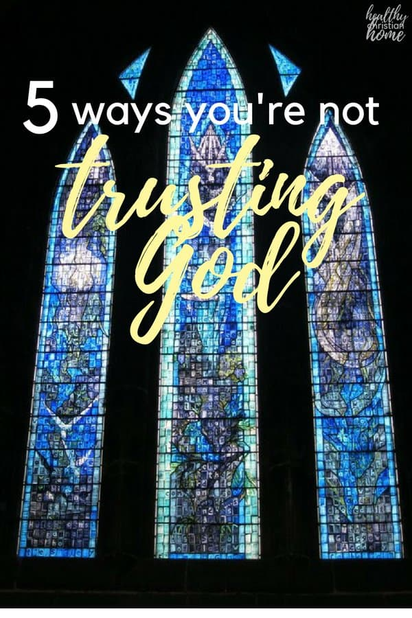 Trusting God is tough. Let's look at five ways we as humans try to trust God in our lives but come up short, plus some solutions to these pitfalls.
