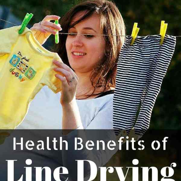 Health Benefits of Line Drying
