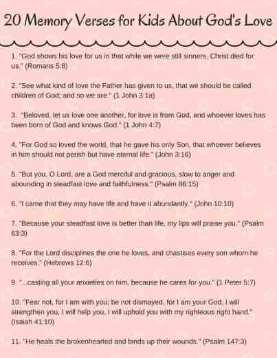 PDF listing all 20 bible verses for kids in the blog post.