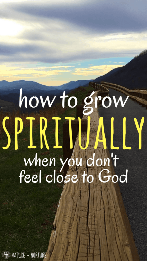 Find out how to grow spiritually when you're going through a spiritual dry spell - an exact method for getting closer to God when it's hard.