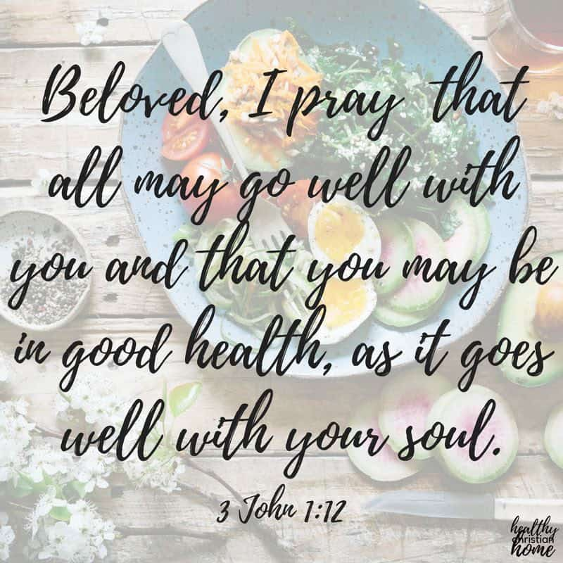 """Quote from 3 John 1:12 concerning """"What does the Bible say about diet?"""""""